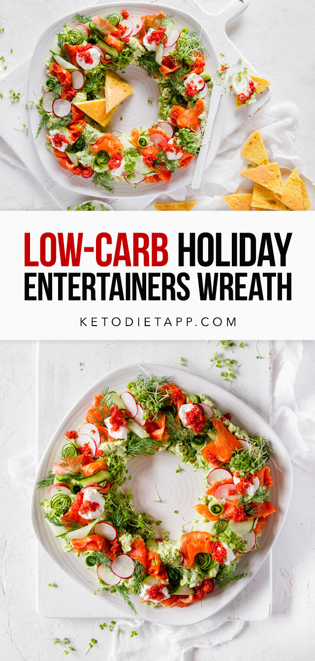 Low-Carb Holiday Entertainers Wreath
