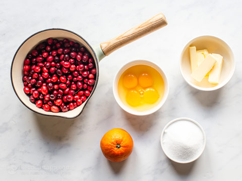 Low-Carb Cranberry Orange Curd