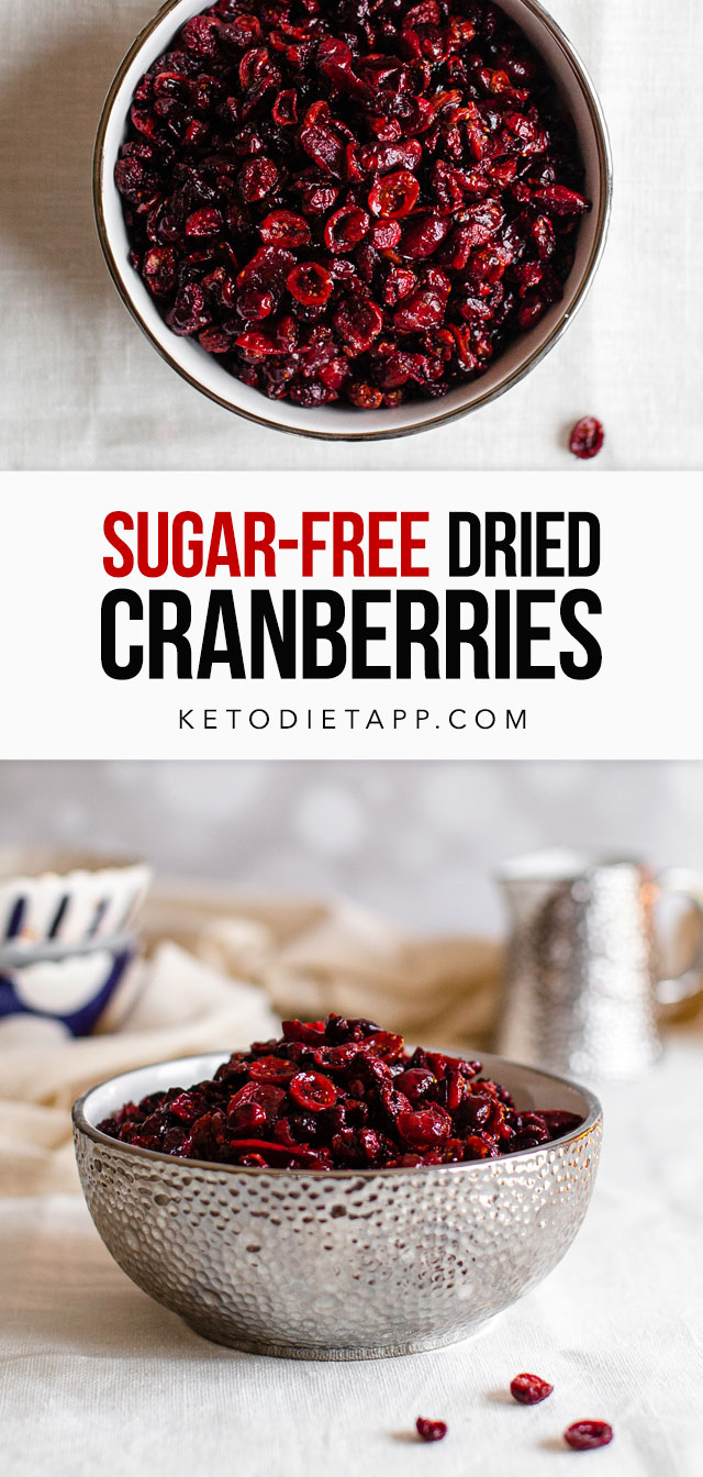 Homemade Sugar-Free Dried Cranberries
