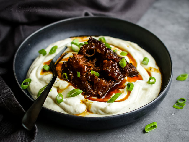 Whole 30 & Keto Braised Short Ribs with Cauli-Mash