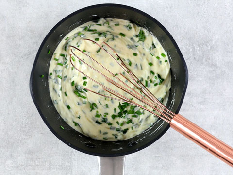 5 Minute Keto Herb Cheese Sauce