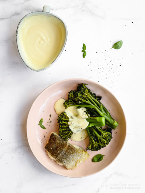 Crispy Cod with Broccoli & Keto Cheese Sauce