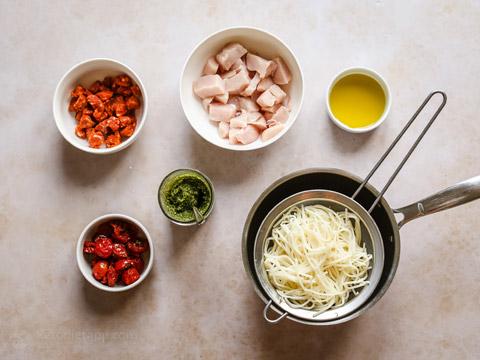 Keto Chicken Chorizo Palmini Pasta