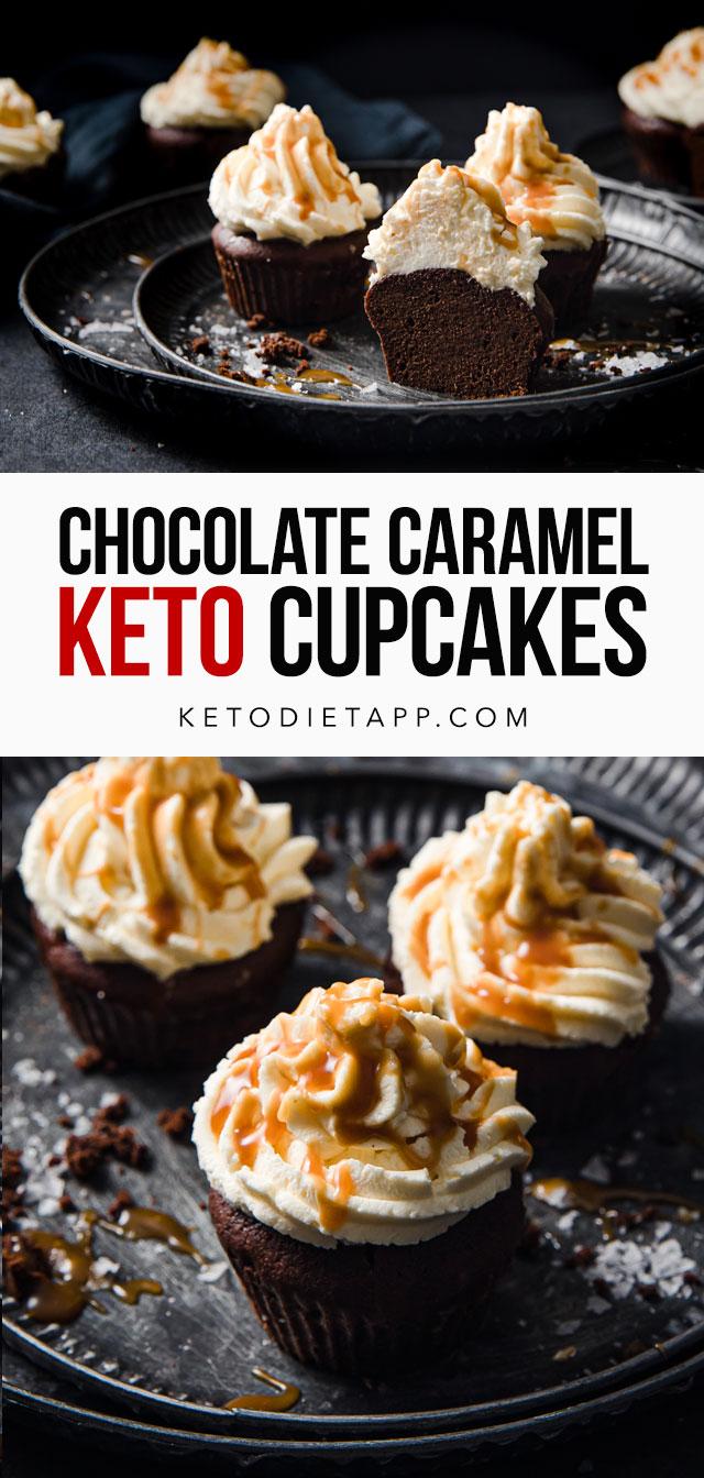 Keto Chocolate Cupcakes With Caramel Mascarpone Frosting