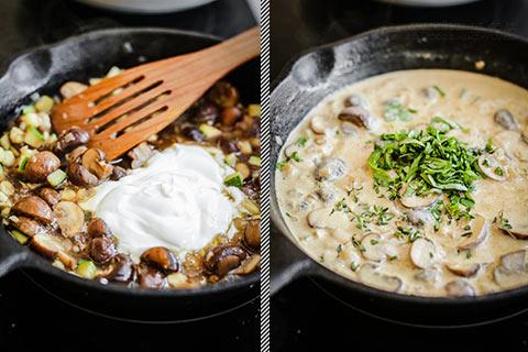 Keto Creamy Mushroom Chicken Skillet