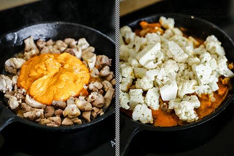 Keto Curried Chicken Cauliflower Skillet
