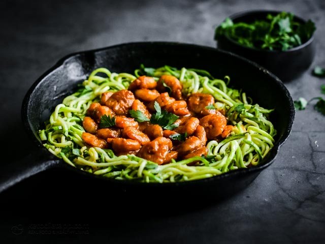 Keto Curried Shrimp Zucchini Skillet