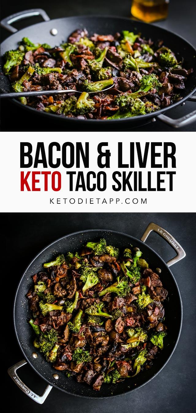 Keto Taco Bacon Liver Skillet