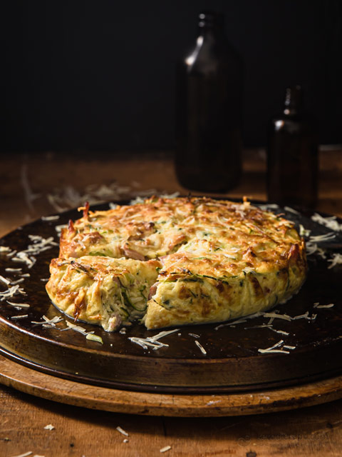 Low-Carb Zucchini Carbonara Cake