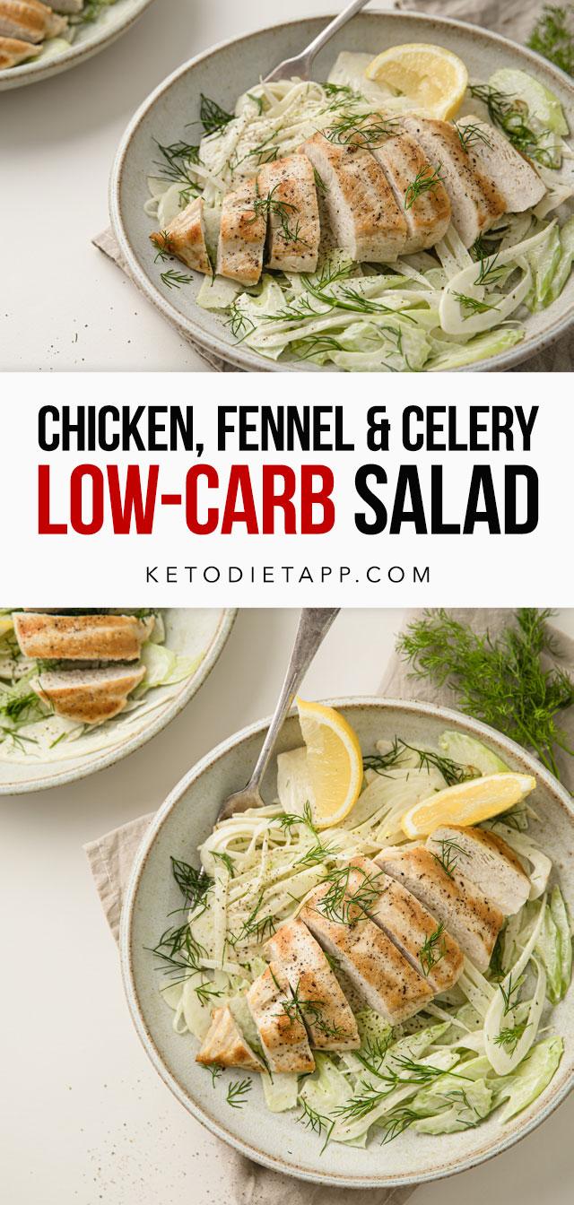 Whole 30 Keto Chicken, Fennel & Celery Salad