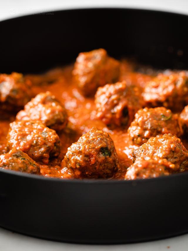 Easy Low-Carb Marinara Meatballs