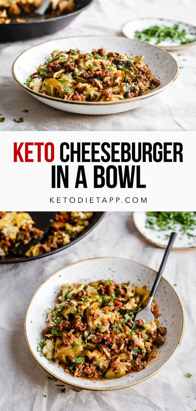 Keto Cheeseburger in a Bowl