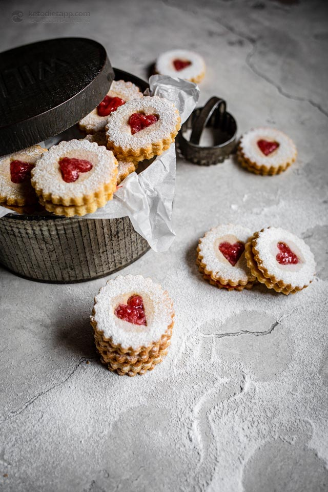 Keto Linzer Cookies