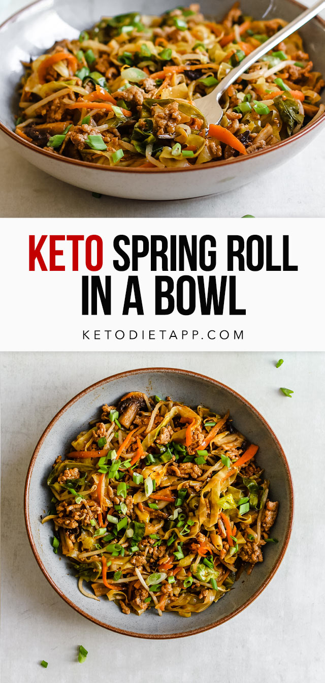 Keto Spring Roll in a Bowl