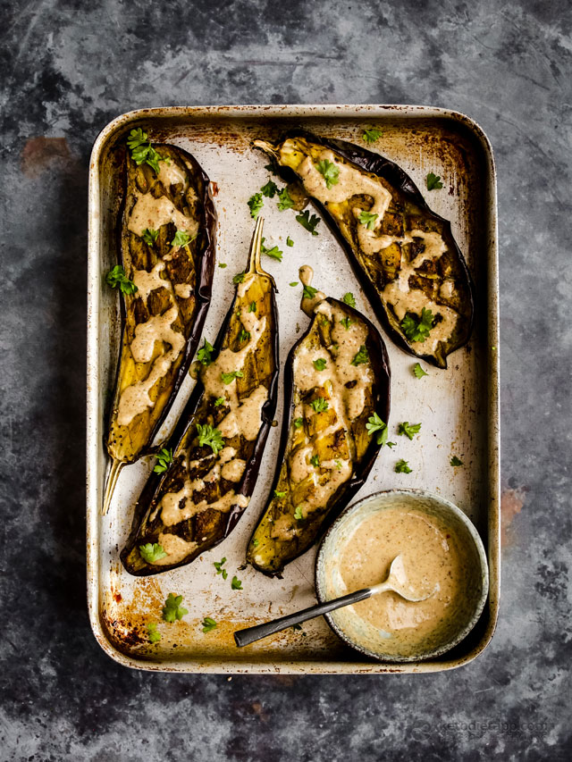 Low-Carb Grilled Harissa Eggplant