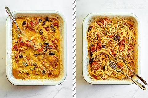 Low-Carb Baked Feta Pasta - TikTok Original