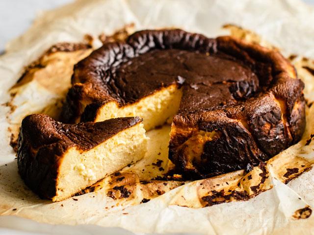 Keto Basque Burnt Cheesecake