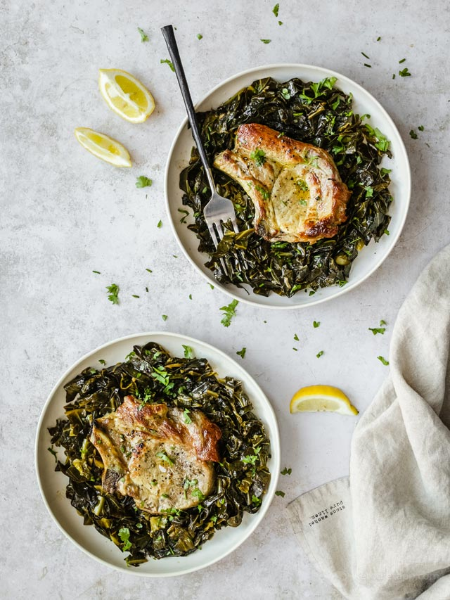 Easy Pork Chops with Cabbage Noodles