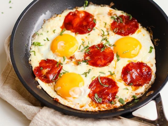 Keto Breakfast Pizza Eggs