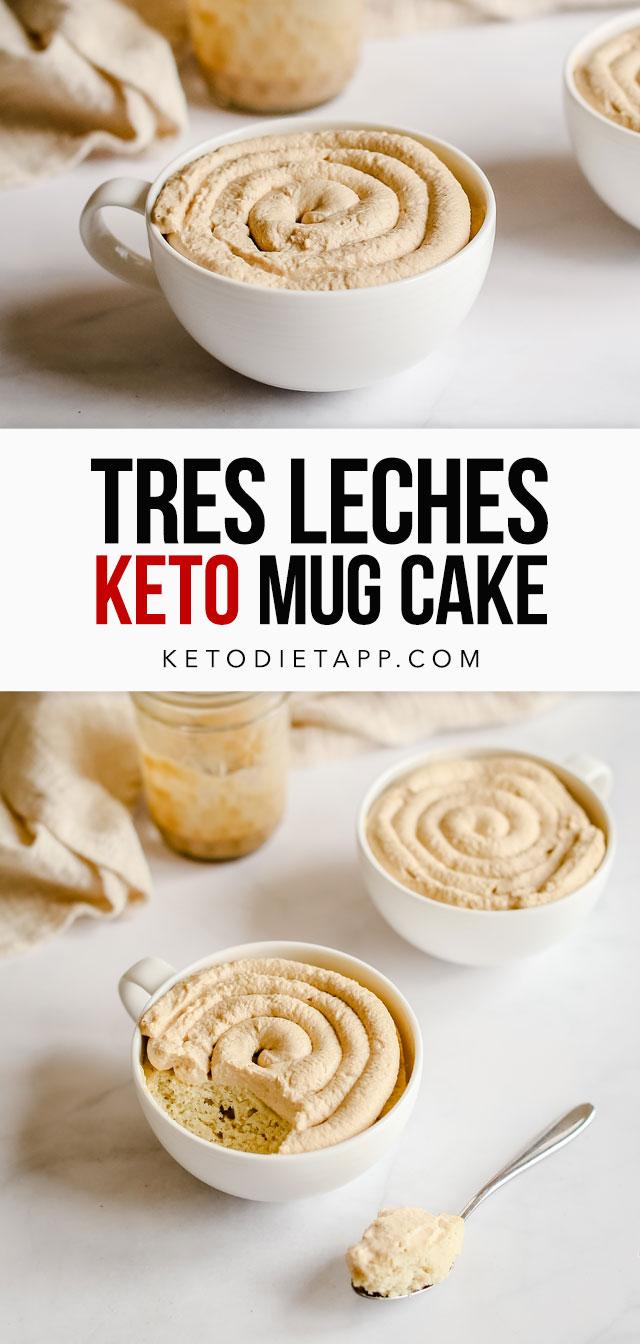 Keto Tres Leches Mug Cake