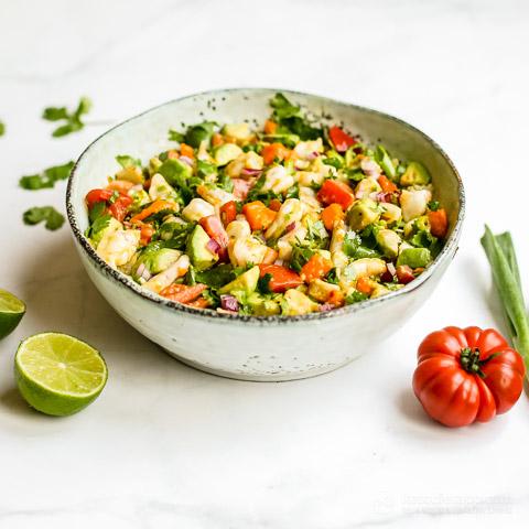 Low-Carb Shrimp and Mango Ceviche