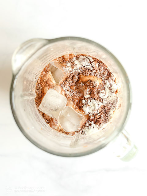 Keto Peanut Butter Chocolate Protein Smoothie