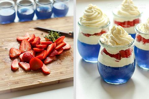 Keto Red, White & Blue Jello Jars