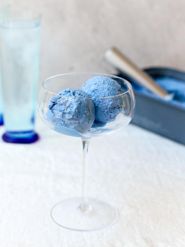 Keto Blue Moon Ice Cream (No Churn Smurf Ice Cream)