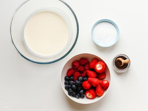 Keto Cream Chaffle Bowls