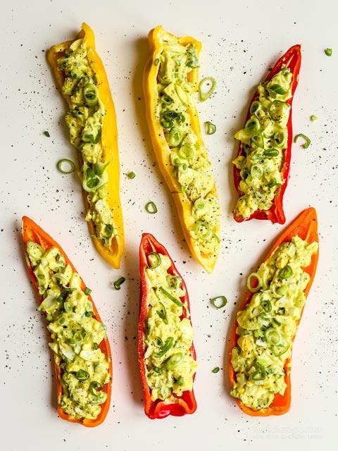 Creamy Egg & Avocado Salad Pepper Boats