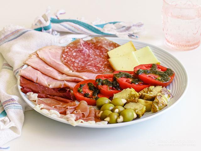 Keto Italian Antipasti Cold Plate