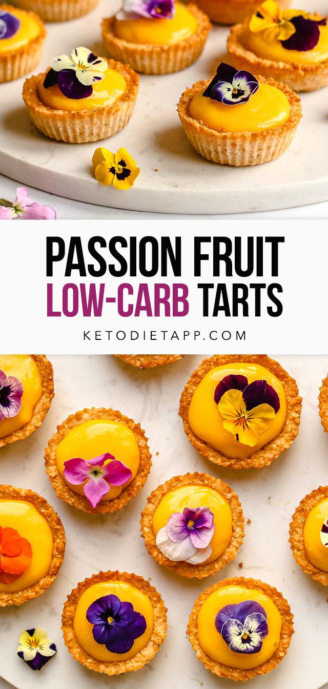 Low-Carb Passion Fruit Tartlets