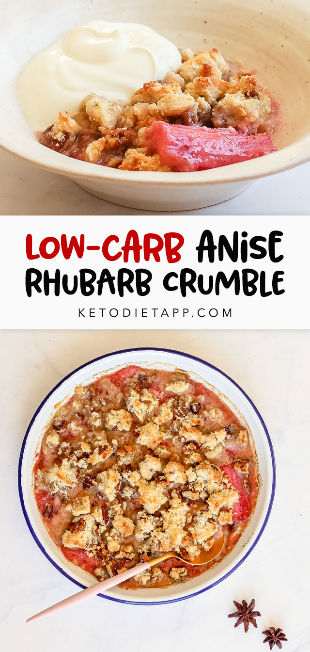 Low-Carb Rhubarb Crumble