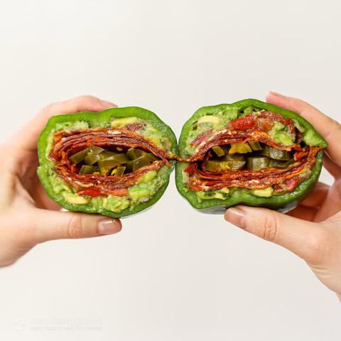 Mexican Bell Pepper Sandwich