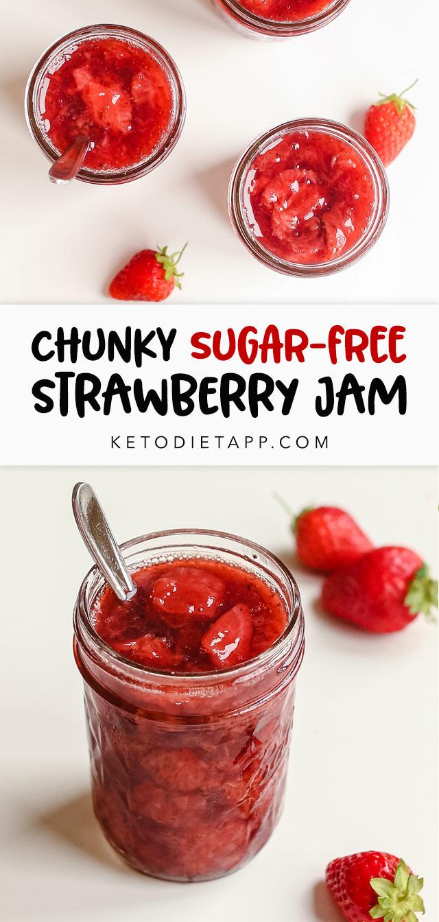 Sugar-Free Chunky Strawberry Jam