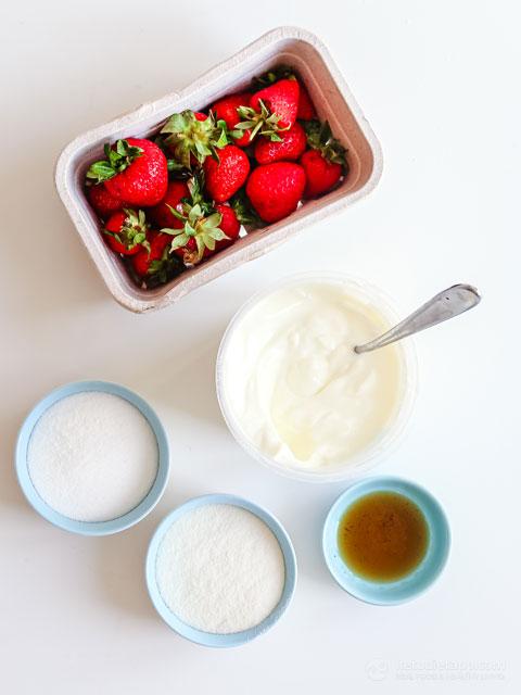 High-Protein Keto Strawberry Froyo