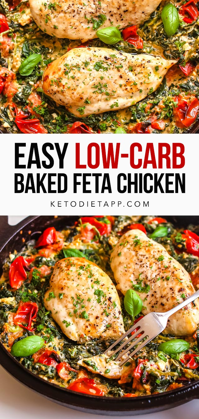 Low-Carb Baked Feta Chicken