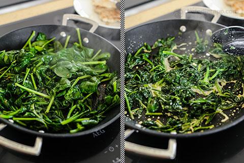 Keto Butterflied Chicken with Garlic Spinach