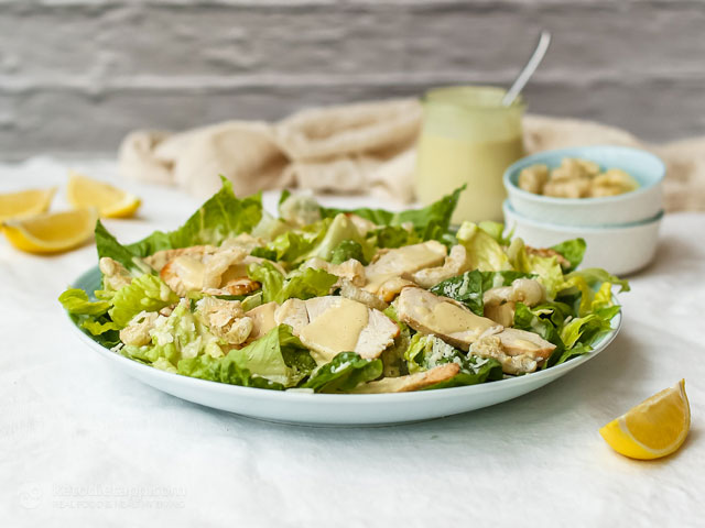 Caesar Salad with Zero-Carb Croutons