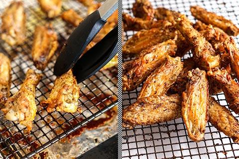 Crispy Keto Harissa Chicken Wings