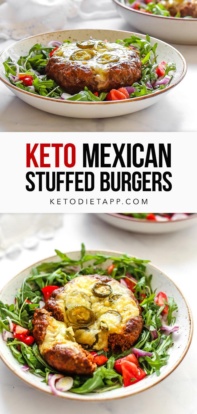 Keto Mexican Stuffed Chorizo Burgers