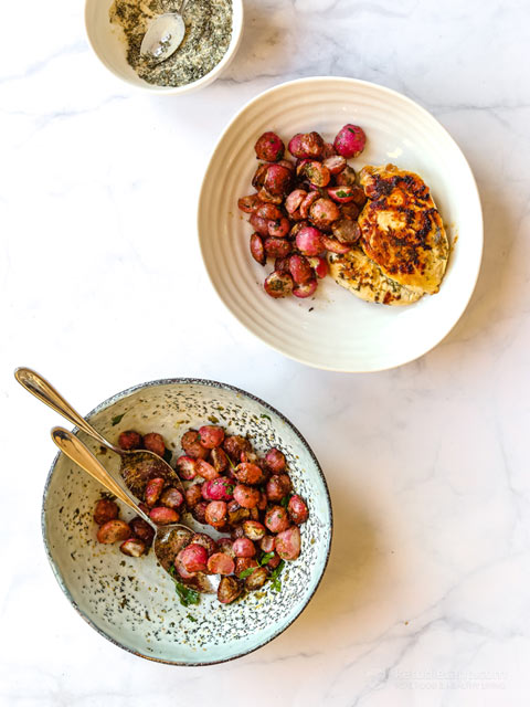 Low-Carb Roasted Ranch Radishes