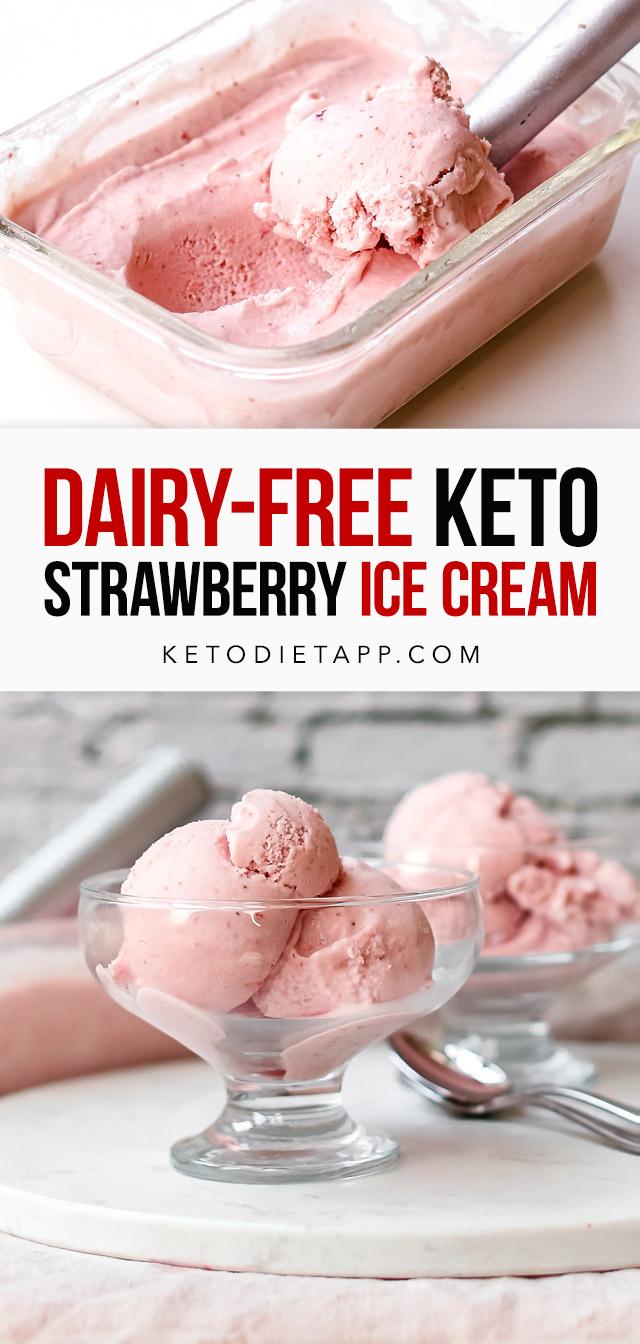 Dairy-Free Keto Strawberry & Lemon Ice Cream