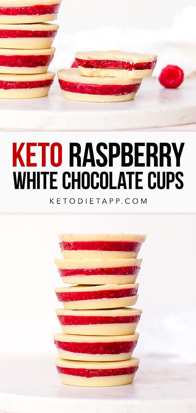 Keto White Chocolate Raspberry Cups