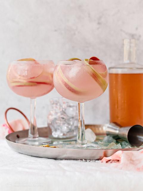Low-Carb Pink Rhubarb Gin