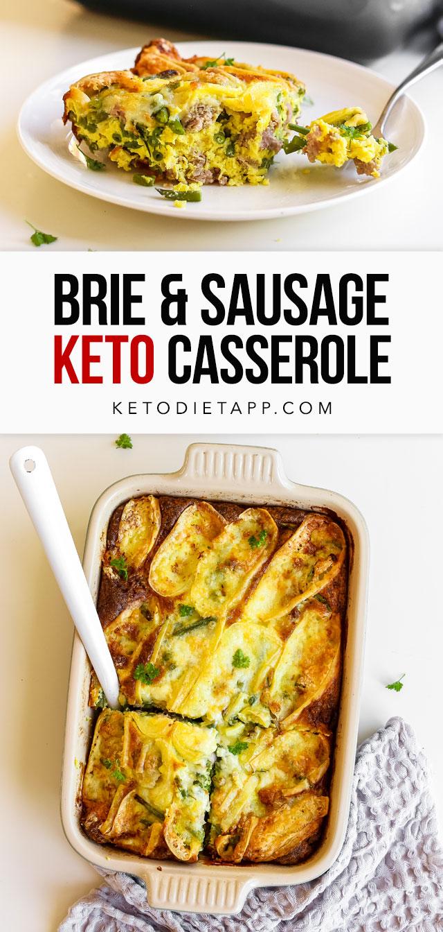 Low-Carb Brie & Sausage Casserole