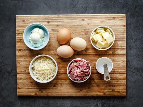 Keto Ham & Cheese Dutch Baby Pancake