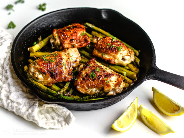 Keto Lemon Chicken & Asparagus