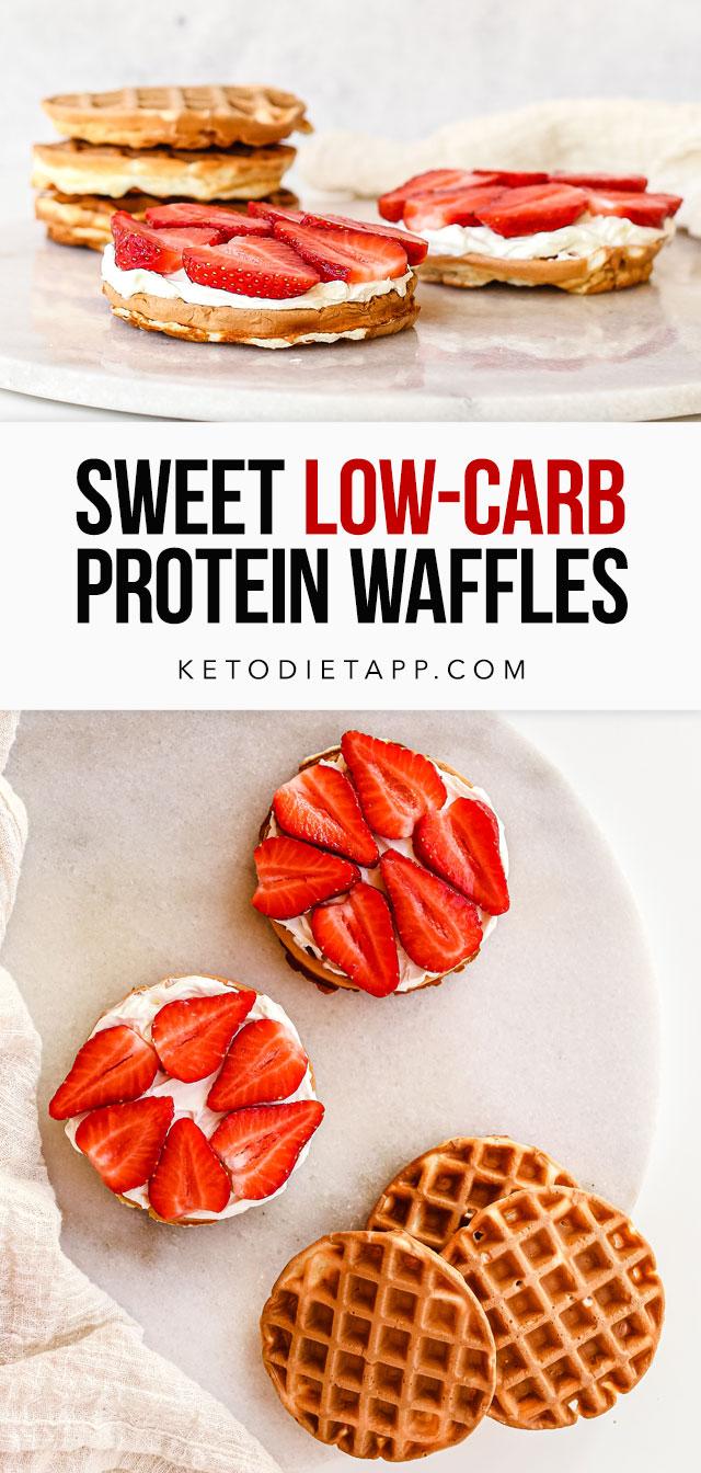 Sweet Keto Protein Waffles