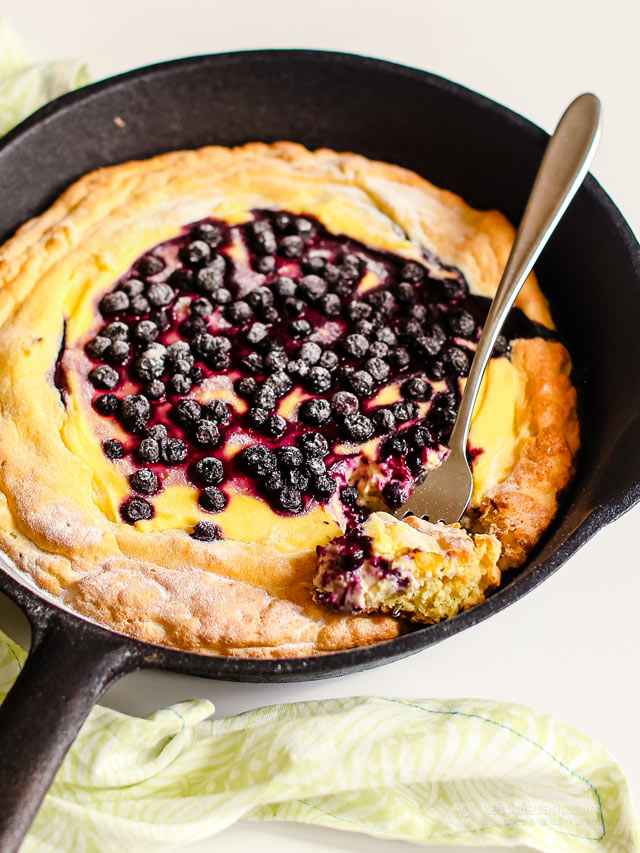 Low-Carb Blueberry Skillet Danish
